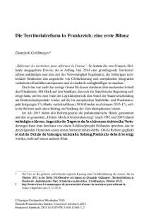 Die Territorialreform in Frankreich: eine erste Bilanz
