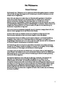 Die Tillykaserne. Roland Holzmayr