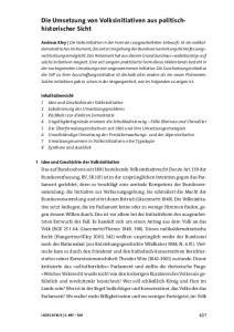 Die Umsetzung von Volksinitiativen aus politischhistorischer