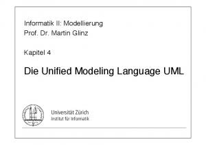 Die Unified Modeling Language UML