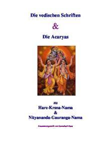 Die vedischen Schriften. Die Acaryas