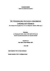 DIE VERSORGUNG PSYCHISCH KOMORBIDER