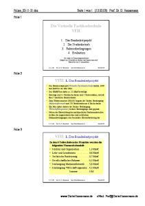 Die Virtuelle Fachhochschule. VFH: 1. Das Bundesleitprojekt