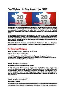 Die Wahlen in Frankreich bei SRF
