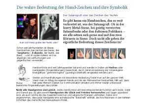 Die wahre Bedeutung der Hand-Zeichen und ihre Symbolik