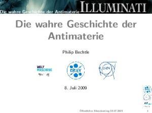 Die wahre Geschichte der Antimaterie