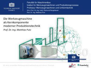 Die Werkzeugmaschine als Kernkomponente moderner Produktionstechnik