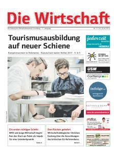 Die Wirtschaft. Die Zeitung der Wirtschaftskammer Vorarlberg 71. Jahrgang Nr Juli Tourismusausbildung auf neuer Schiene