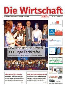 Die Wirtschaft. Die Zeitung der Wirtschaftskammer Vorarlberg 72. Jahrgang Nr März 2017