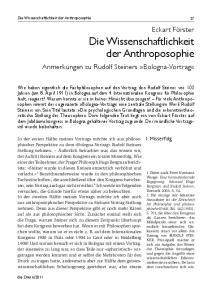 Die Wissenschaftlichkeit der Anthroposophie