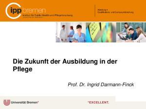 Die Zukunft der Ausbildung in der Pflege