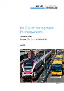 Die Zukunft des regionalen Personenverkehrs
