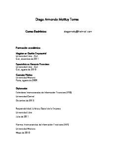 Diego Armando Matituy Torres