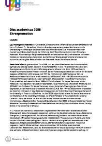 Dies academicus 2008 Ehrenpromotion
