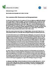 Dies academicus 2011: Ehrensenator und Ehrenpromotionen