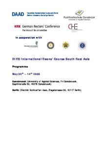 DIES International Deans Course South East Asia