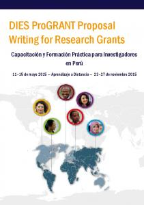 DIES ProGRANT Proposal Writing for Research Grants
