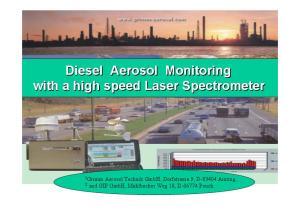 Diesel Aerosol Monitoring with a high speed Laser Spectrometer