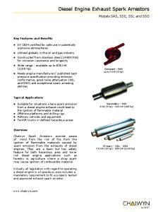 Diesel Engine Exhaust Spark Arrestors