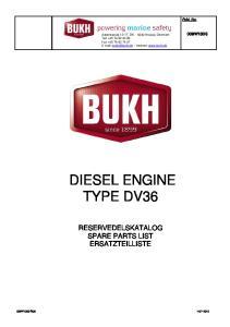 DIESEL ENGINE TYPE DV36