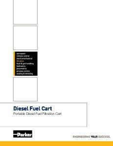 Diesel Fuel Cart. Portable Diesel Fuel Filtration Cart