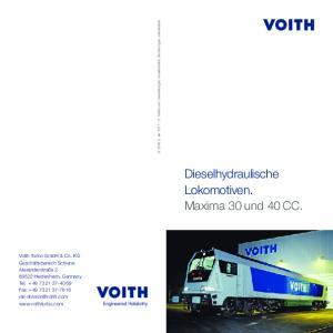 Dieselhydraulische Lokomotiven. Maxima 30 und 40 CC