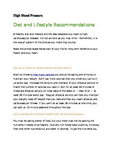 Diet and Lifestyle Recommendations