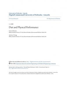 Diet and Physical Performance