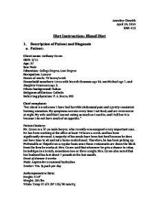 Diet Instruction: Bland Diet