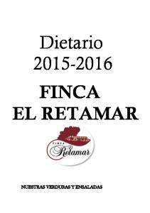 Dietario FINCA EL RETAMAR