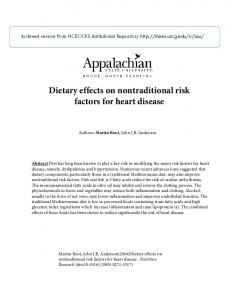 Dietary effects on nontraditional risk factors for heart disease