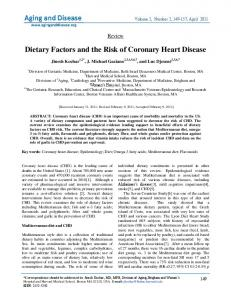 Dietary Factors and the Risk of Coronary Heart Disease