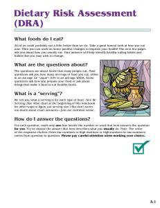 Dietary Risk Assessment (DRA)