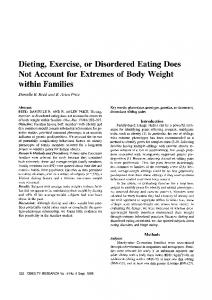 Dieting, Exercise, or Disordered Eating Does Not Account for Extremes of Body Weight within Families
