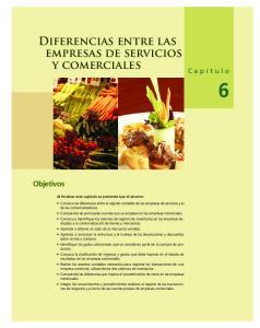 Diferencias entre las empresas de servicios y comerciales