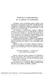 DIFERENCIAS GENERACIONALES EN EL EMPLEO DE EUFEMISMOS