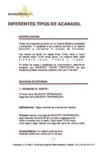 DIFERENTES TIPOS DE ACABADO