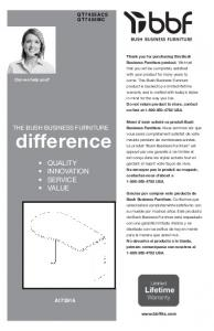 difference QUALITY INNOVATION SERVICE VALUE THE BUSH BUSINESS FURNITURE A Limited Lifetime Q T 7455MC  Can we help you?