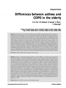 Differences between asthma and COPD in the elderly