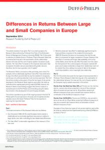 Differences in Returns Between Large and Small Companies in Europe