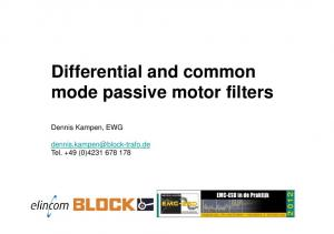 Differential and common mode passive motor filters