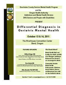 Differential Diagnosis in Geriatric Mental Health