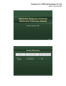 Differential Diagnosis of Chronic Obstructive Pulmonary Disease
