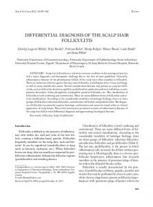 DIFFERENTIAL DIAGNOSIS OF THE SCALP HAIR FOLLICULITIS