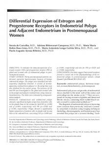 Differential Expression of Estrogen and Progesterone Receptors in Endometrial Polyps and Adjacent Endometrium in Postmenopausal Women