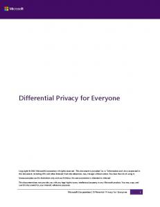 Differential Privacy for Everyone