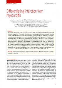 Differentiating infarction from myocarditis