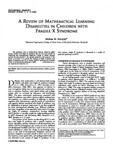 Difficulty with mathematics is well documented among