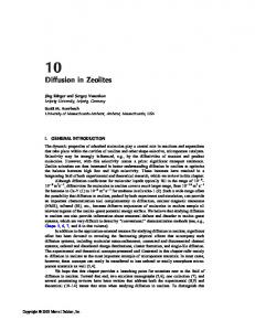 Diffusion in Zeolites