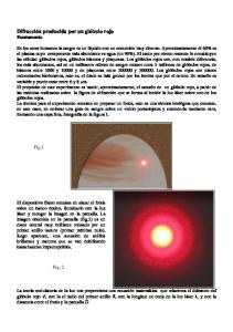 Difracción producida por un glóbulo rojo Fundamento